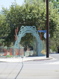 Frog gate at Los Angeles River